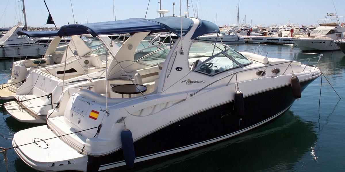 Sea Ray Sundancer 355 Motor Boat Charters from Puerto Banus